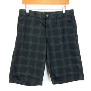 "Volcom Frickin Plaid 22"" Shorts Sz 32 Black Plaid"